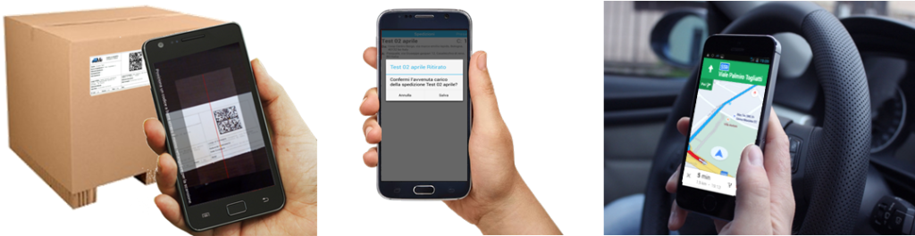 TRACKMEUP funzioni da smartphone